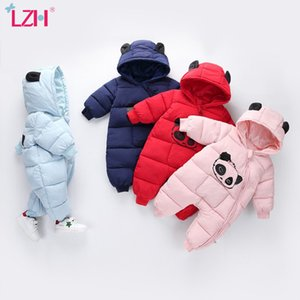 LZH Neonato Neonato Abbigliamento Autunno Inverno Down Cotton Complessivamente per i bambini Pagliaccetti Baby Girl Girl Tuta Abbigliamento infantile 201027