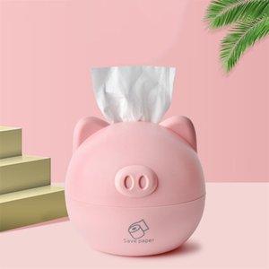 Accueil Tissue Boîtes de bureau Porte-serviette mignon de porc en forme de papier tissu Boîte de rangement cuisine rouleau de papier toilette Porte-tube