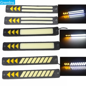 2pcs Universal DRL DRL Tournage Signal Auto Light Assembly LED Day-temps Lights Lights Etanche Auto Jour Fun Light 12V