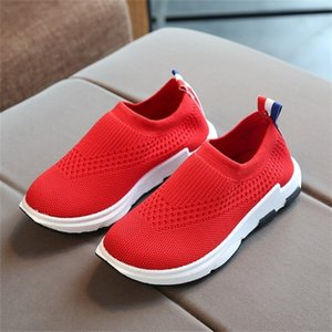 Ulknn Enfants Sneakers Courir Chaussures Enfants Boys Sport Chaussures Filles Respirant Tricot Chaussettes Sneakers Soupes Soft Soft Casual Shoe 201130
