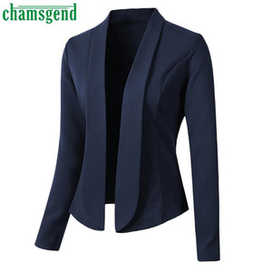CHAMSGEND Retro coats Women Autumn Long Sleeve Slim Business Suit Elegant Ladies Office Suit Jackets Casual Coat Outwear