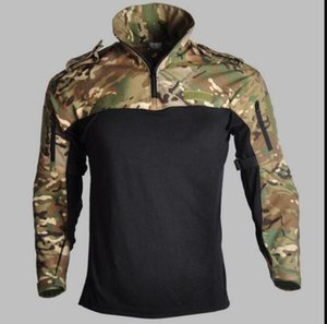Assault Camouflage Tactical T-shirt Long Sleeve Swat Soldiers Breathable Quick Dry Combat t Shirt Airsoft Clothes Mens Us Army Shirts