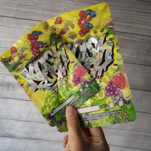 İki Boyutlu Kush Rush Exotics Çanta Çantanabilir Fermuar Fermuarlı Fermuar Conta Kıdemli Çiçekler Ambalaj 3.5g veya 7g Mylar Çanta Kush Rush Mylar Bahjj