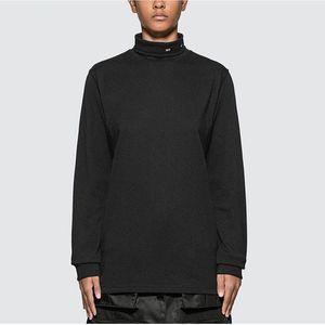 Collar Shirt 20FW Outono Inverno alta Sólidos Simples Cor manga comprida camisola Men Mulheres pulôver Moda Dentro camisola T-shirt HFYMWY600