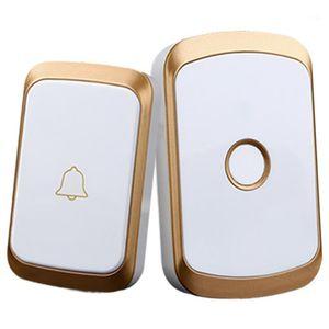 Doorbells Wireless Doorbell Ac 110-220V Smart Digital Waterproof Push Button 36 Melody 4 Volume Cordless Door Ring Us Plug1