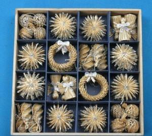 Gli ornamenti dell'albero di Natale hanno impostato la decorazione del festival tessuta della paglia di grano Decorazioni natalizie in vendita online di Natale D Jllrji BDEBAG