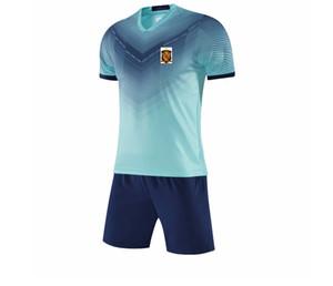 2021 Spanien National Football Team Running Sportswear Schnelltisch Kinder Fußball Jersey Erwachsene Kurze Training Set Herren Football Jersey