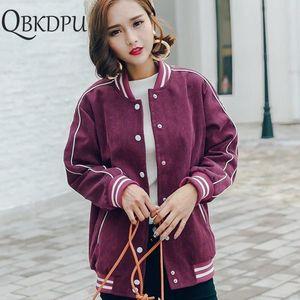 Women Corduroy Baseball Jacket Fashion Casual Female Coats Spring Ladies Bomber Outwear Office Work Casual Basic Streetwear