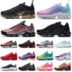 nike vapormax plus tn air max airmax vapor zapatos para correr mujeres hombres Triple Negro Blanco Rosa Rise REGENCY PURPLE LEMON LIME Volt Megatron mens trainers Sports Sneakers