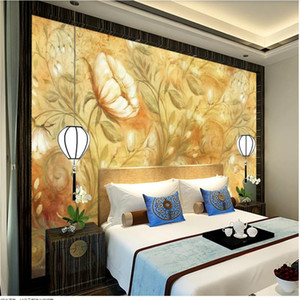 European 3d stereoscopic wallpaper background wall European pattern Nordic decorative painting