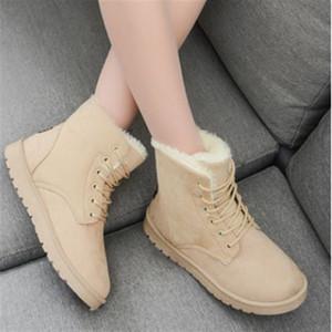 Fashion Winter Shoes Doc-martens Boots Warm Plush Leisure Women Flats Snow Boot De Mujer Zapatos Femmes Bot 9o3l