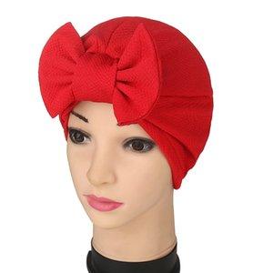 판매 봄 / 여름 유럽 및 미국 외국 무역 인도의 터번 모자 Baotou 모자 bowknot 파인애플 꽃 무슬림 솔리드 컬러 모자 hwc992