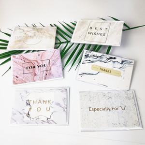 Marmorierte Grußkarte Special für Sie Best Wunsch Bronzing Grußkarte Einladung Hochzeit Dankes Geburtstag Papier Karte EWF1226