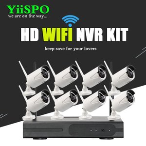 YiiSPO 8CH Wireless NVR CCTV System 960P IP Camera WIFI Weatherproof IR Night Vison Home Security Camera Surveillance 1.3MP Kit