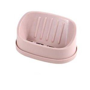 Herramienta capa de drenaje Drenaje doble del sostenedor antideslizante caja de plástico Accesorios Soapdish jabón de baño del plato de ducha bbyYzY hotstore2010