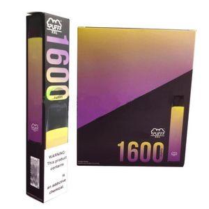 Disposable vape XXL 1600 puffs Pod Device Portable Kit Pre-filled Cartridges Vape Pen Vapor 6.5ml 1000mAh Empty Custom Made 20 colors