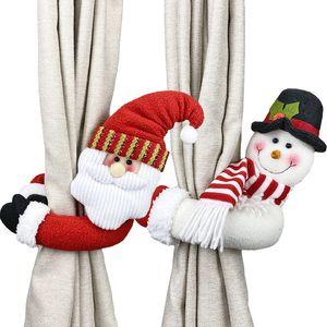 Noel Dekorasyon Yaratıcı Perde Yüzük Karikatür Bebek Dekorasyon Bebek Toka Perde Toka Pencere Kolye 20 adet T1I2705