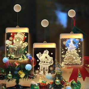 3D Noel Teması Renkli Işıklar Kapalı Süsleme Elk Noel ağacı Şekil Enerji Tasarrufu LED Lamba Dize 9cy J2