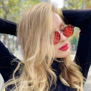 Солнцезащитные очки Женщины Hollow металлического каркаса конструктора Конструкторы Круглого ретро Личность Люди Out Steampunk очки Мужские 1901 Sunglasse Gvgn