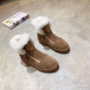 Hot Sale-2019 new snow boots, comfortable and warm, designer shoes, official website one to one production, leather shoes, number: 90. s8