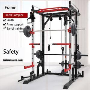 EU Stock 2021 aço máquina Smith agachamento rack de frame do pórtico home fitness abrangente dispositivo de treinamento de agachamento livre supino frame.1 F7257