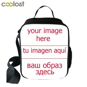 Customize your name image Students School Food Boys Girls bag Wild donkey Women Men Lunch Box Best Gift Q1104