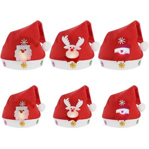 2 Size Led Light Christmas Hat For Kids Adults Red Santa Claus Snowman Elk Light Up Cap Xmas Party Decoration New Year wmtrQI petsyard
