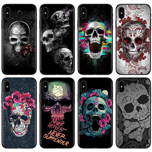 Fashion Cover I-phone 12 Case For Iphone 12 Mini Pro Max 11 Scary Skull Cover Shell Cell 11 Moblie Phone Cases