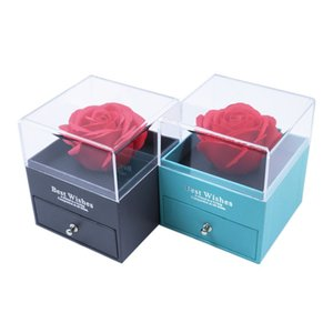 Rose Flower Jewelry Box with Gift Bag Necklace Earrings Ring Box Gift for Mother Girlfriend WB3423