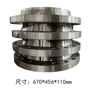 Carbon steel full plane seal, non-deformable butt welding flange with neck