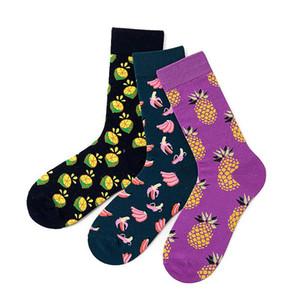 Autumn winter Women Happy Funny Cute Sock Fruits Banana Japanese Harajuku Pattern Christmas Gift Women's socks Pairs