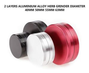 2 Parça Öğütücü Ot Öğütücüler Alüminyum Alaşım 40mm 50mm 55mm 63mm Tütün Öğütücüler Herb Baharat Chrusher Manyetik Kapak 5 Renkler