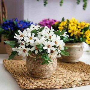 Декоративные цветы венки красивые симуляторы ромашки букеты ручной работы фетровой ткань цветок горшечный завод для домашнего стола декор DIY Package1