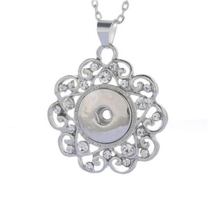 Boom Life 2018 New Fashion Beauty Pendant Crystal Snaps Necklace Fit Diy 18mm Snap Buttons Jewlery Wholesa bbyzhj