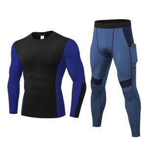 Laufen Sätze Schnelltrocknung für Männer Sportanzug Fitness-Fitness-Komprimierung Jogging Sportbekleidung Winter-Trainingsanzüge Plus-Größe