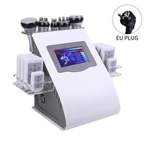 FreeShipping 6 in 1 Vacuum Laser Radio Frequency RF 40K Cavi Lipo Ultrasonic Liposuction Cavitation Machine For Spa