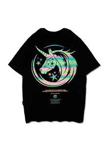 20SS summer men and women couple T-shirt designer men T-shirt fashion T-shirt Hot Products Reflective Unicorn Novel Products3