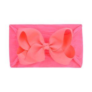 1 Piece Baby Headband Baby Bow Nylon For Girls Baby Hairbands Newborn With Bow Bandeau Bebe Fille Headband Turban Accessory Q sqcdLL