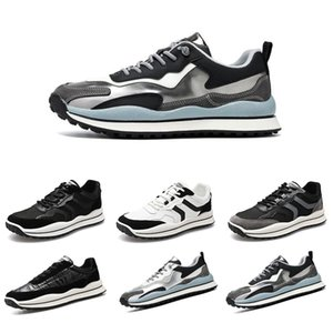 Non-brand men running shoes fashion flats sneakers color black white grey runner jogging forrest shoes size 39-44