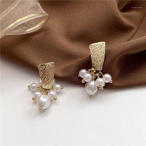 earring piercing ear Elegant charms stud Minimalist Wedding ladies fashion elegan colorful Vintage stainless steel pendientes1