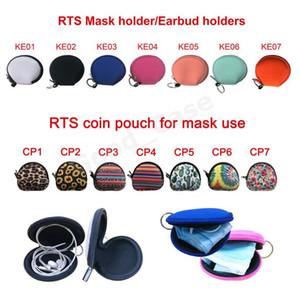Néoprène visage Masques Sacs unisexe multifonctions Casque-monnaie Solide Couleur et coloré Portable Facemask Porte-monnaie Sacs Totes F102201