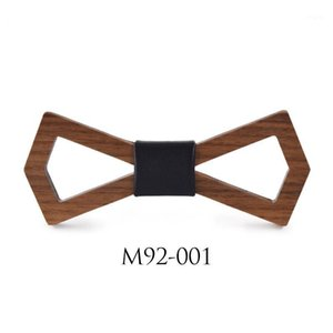 새로운 착용 부드러운 목조 남자 Cravat hollow 웨딩 Bowties Neckwear Accessory1