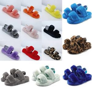 Nuevas cuñas pelusa pelusa oh sí diapositivas zapatillas sandalias ugg women men kids uggs slippers furry boots slides zapatillas elástica plataforma zapatillas de unión pantouf