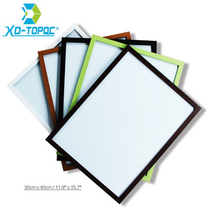 30*40cm Whiteboard 11 Colors MDF Frame For Chosen Magnetic Wood Bulletin Message Dry Erase Writing Board Free Accessories WB23 201116