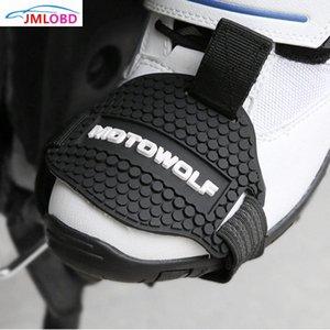 MOTOWOLF Aşınma dayanıklı Kauçuk Motosiklet Vites Pad Binme Ayakkabı itişme Mark Koruyucu Motosiklet Boots Kapak değiştiren Muhafızları qCs6 #