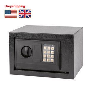 STOCK IN US UK MINI Digital Security Casella cassaforte Tastiera Taccuino Blocco Piccolo Dimensione Elettronica Cassaforte Cassaforte Cassa in acciaio Dropshipping Dropshipping