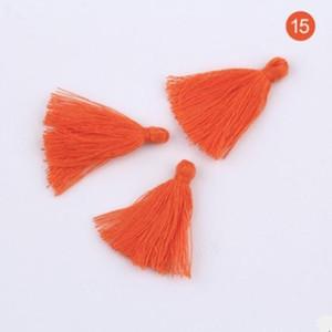 100 unid 3 cm Mini algodón Tela Tela Tassel DIY Colgante Joyería Pulsera Clave Making Fringe Trim Craft Barbas Accesorios de costura H BBYYCR