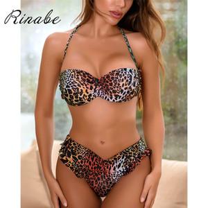 Rinabe печать Leopard печати бикини 2020 бикини купальник женщин толкать купальник бикини купальник сочетание женщины халат женщина халат расфас