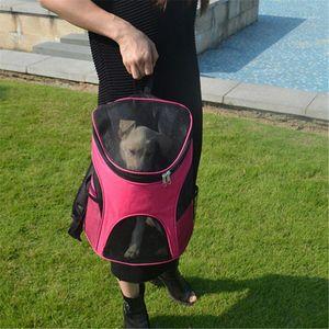 Puppy Kitten Carry Bag Double Shoulder Portable Travel Backpack Outdoor Pet Dog Carrier Bag Pet Dog Front Mesh Backpack Head1