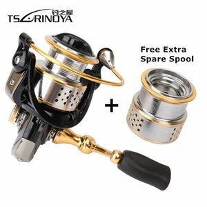 wholesale Fashion Saltwater Fishing Reel 2000 Model Speed Ratio 5.2:1 Deep Shallow Double Metal Spool Carp Spinning Reel